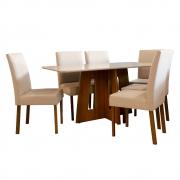 Conjunto Sala de Jantar 6 Cadeiras Lara Tec 303