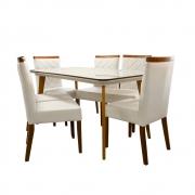 Mesa Wood De Jantar Retangular 80x160 / 6 Cadeiras Canada
