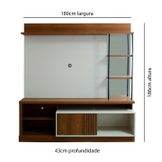 Painel Para TV Garibaldi 1,80m
