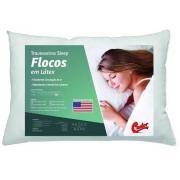 Travesseiro Castor Latex Flocos 45x65x16cm