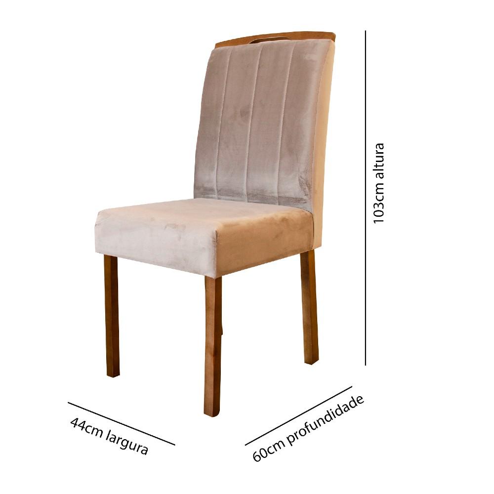 Cadeira Priscila Minas Sued Decor 402 / Madeira Maciça