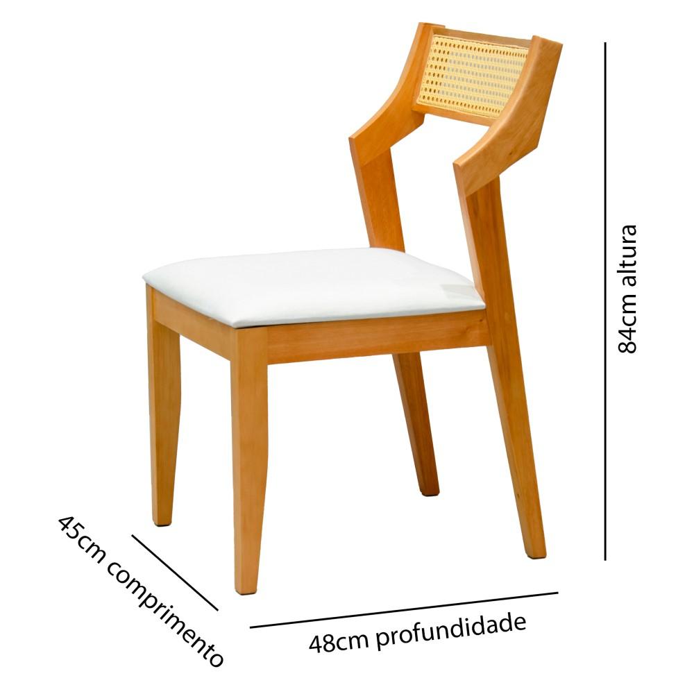 Cadeira Sem Braço Alabama, Tec 101 Canela / Madeira Maciça