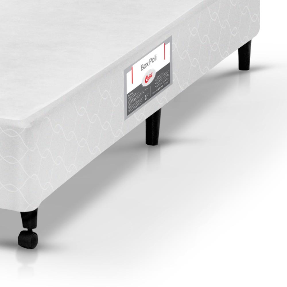 Cama Box Casal Castor Poli Branco 138x188x27cm