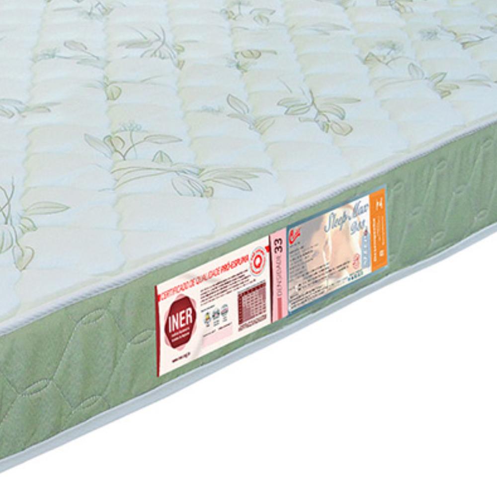 Colchão Solteiro De Espuma Sleep Max Liso D33 78x188x14cm