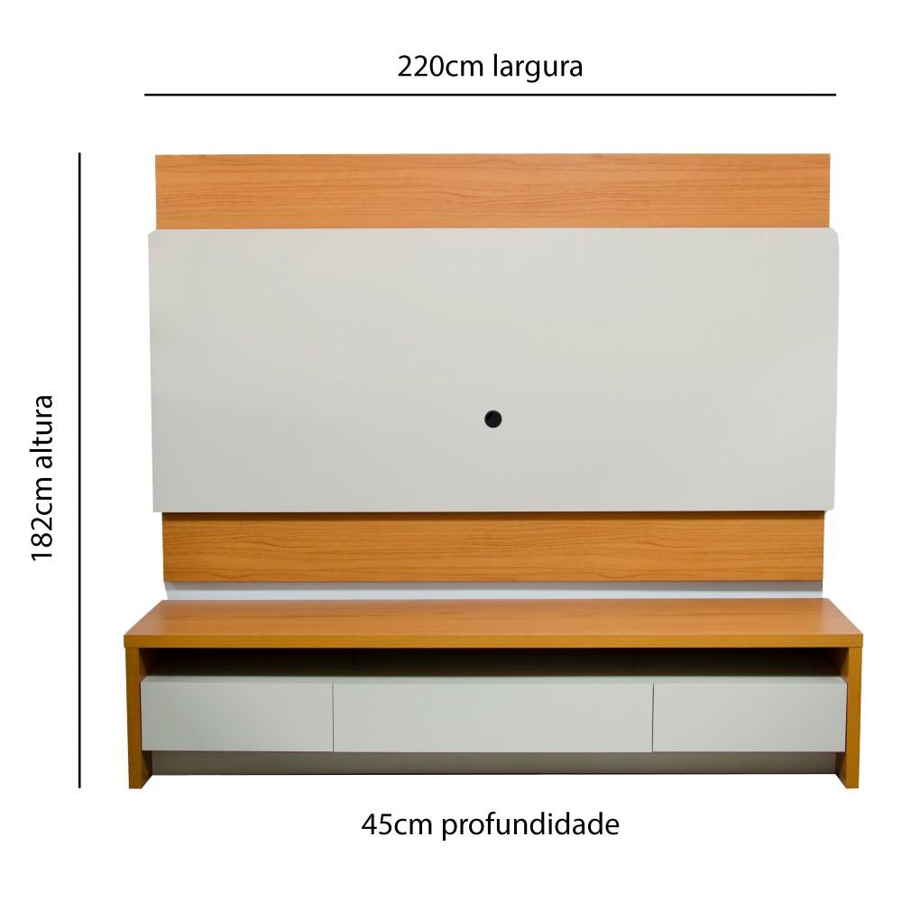 Painel Para TV Colonia Com Rack