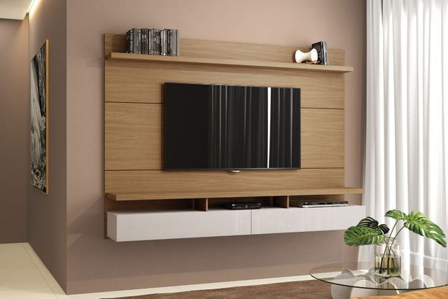 Painel Para TV Home City Natural Off White 1,80m