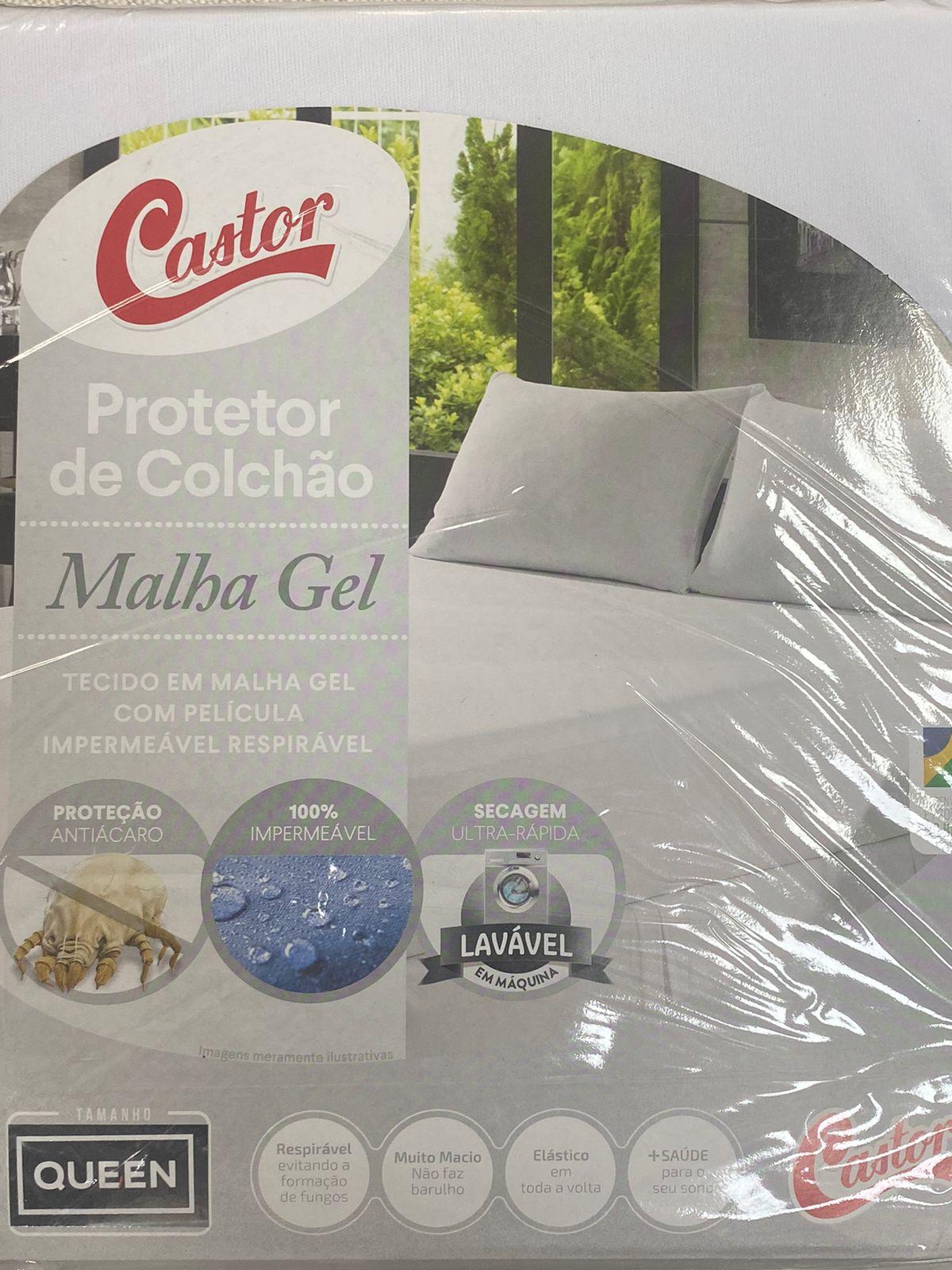 Protetor De Colchão Queen Impermeável Malha Gel 160x200x50