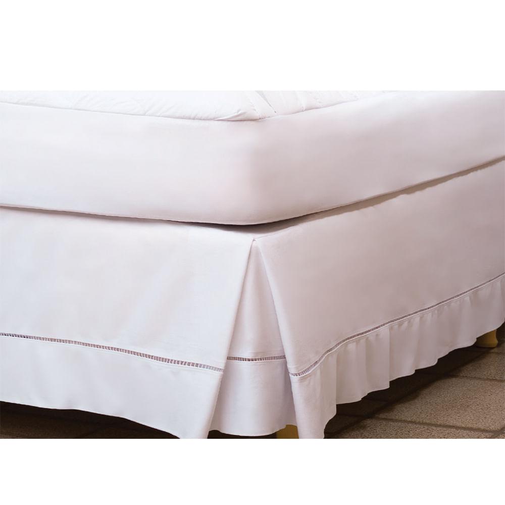 Saia Para Cama De Casal Fibrasca Lisomax 140x190cm Branco