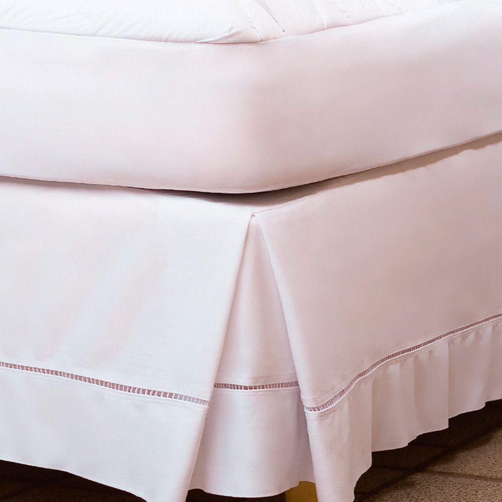 Saia Para Cama De Solteiro Fibrasca Lisomax 90x190cm Branco