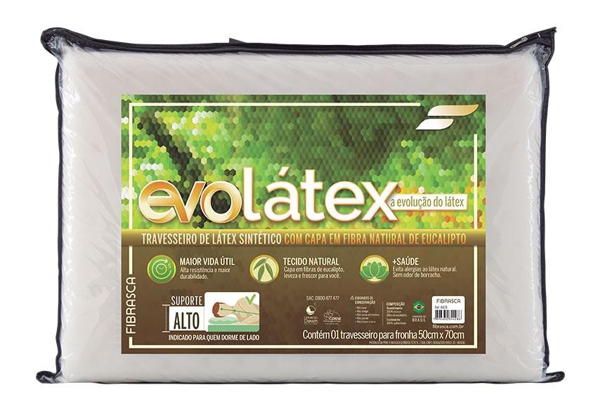 Travesseiro Fibrasca Evolatex Alto 50x70x16cm