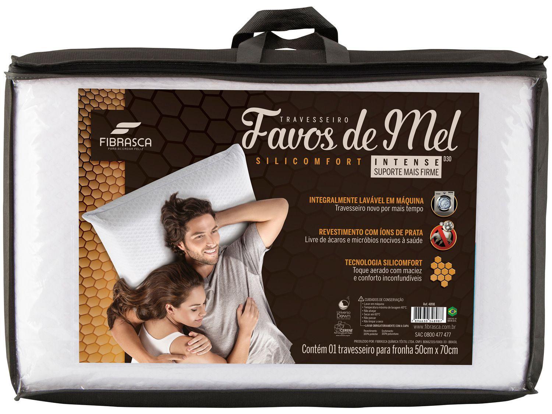 Travesseiro Fibrasca Favos De Mel Intense 50x70x15cm