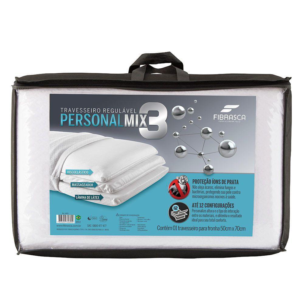 Travesseiro Fibrasca Personal Mix 3 - 50x70cm