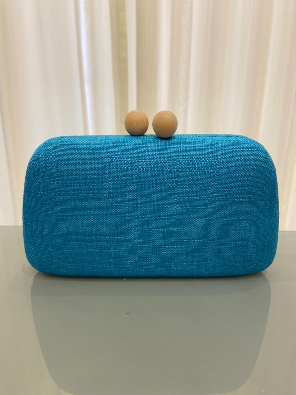 Clutch Búzios Azul Turquesa