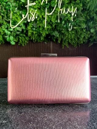 Clutch Metalizada Pink