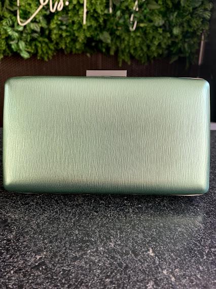 Clutch Metalizada Verde