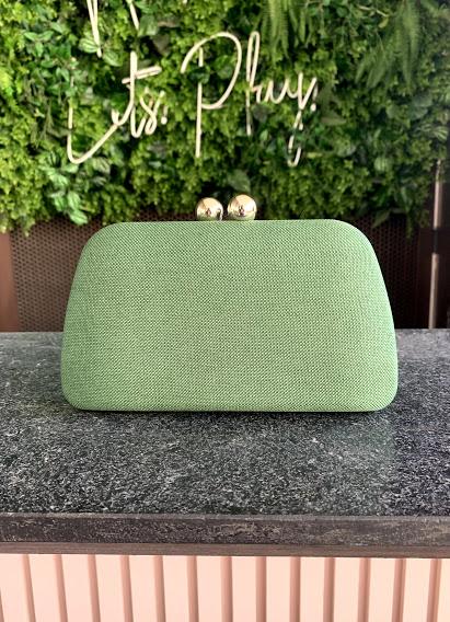 Clutch Oval Linho Verde