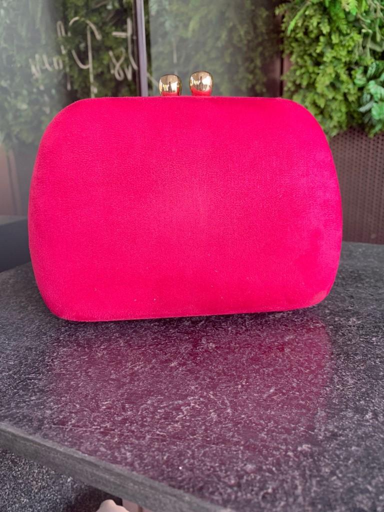 Clutch Veludo Pink