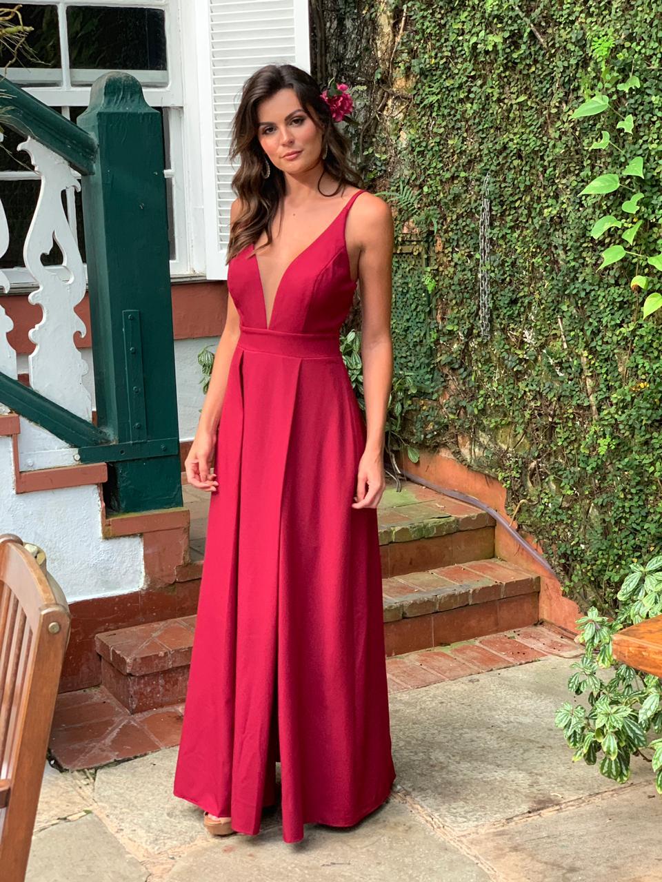 Vestido Acapulco Marsala