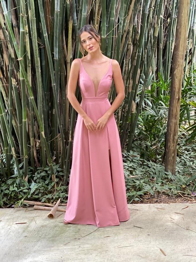 Vestido Acapulco Rosa Antigo