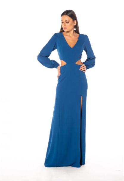 Vestido Alemanha Azul Cobalto