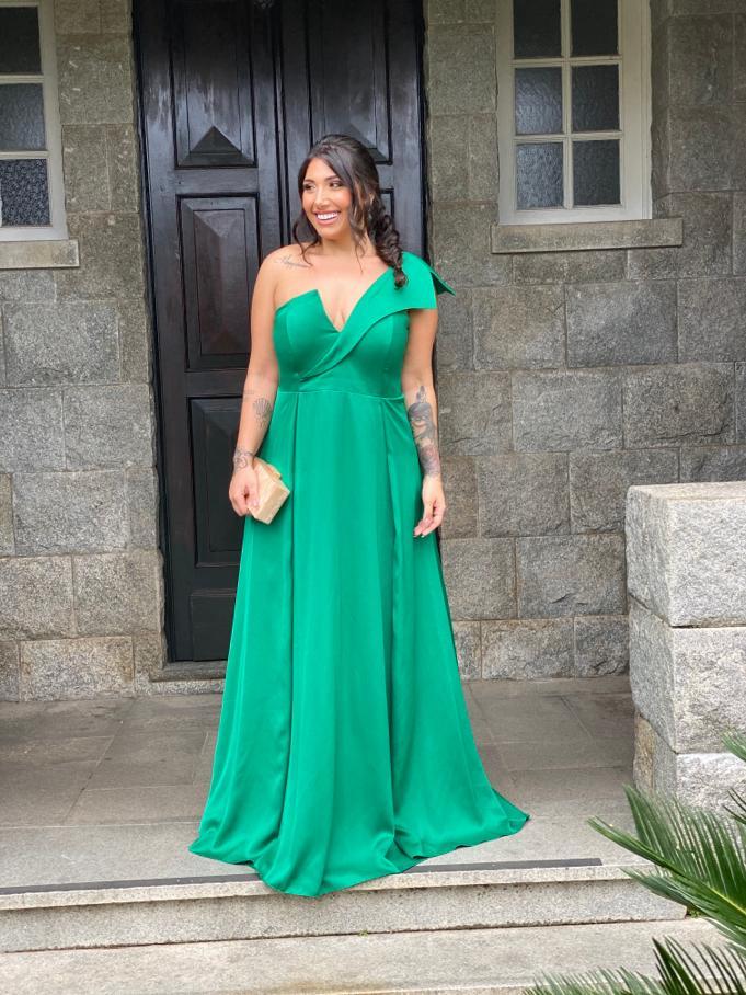 Vestido Andorra Plus Size Verde