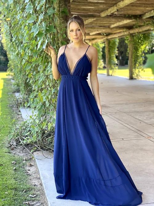 Vestido Angra Azul Marinho