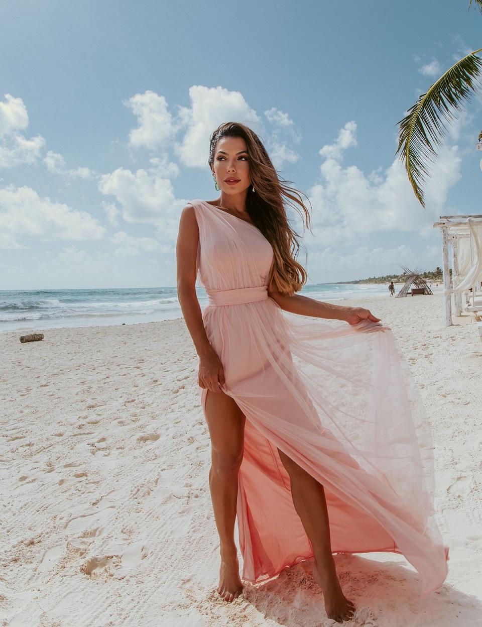 Vestido Arendel Tule Rosa