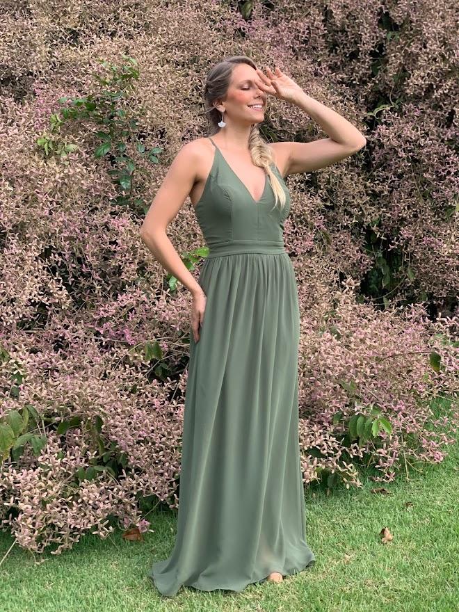 Vestido Argentina Verde Oliva