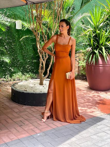 Vestido Armênia Terracota