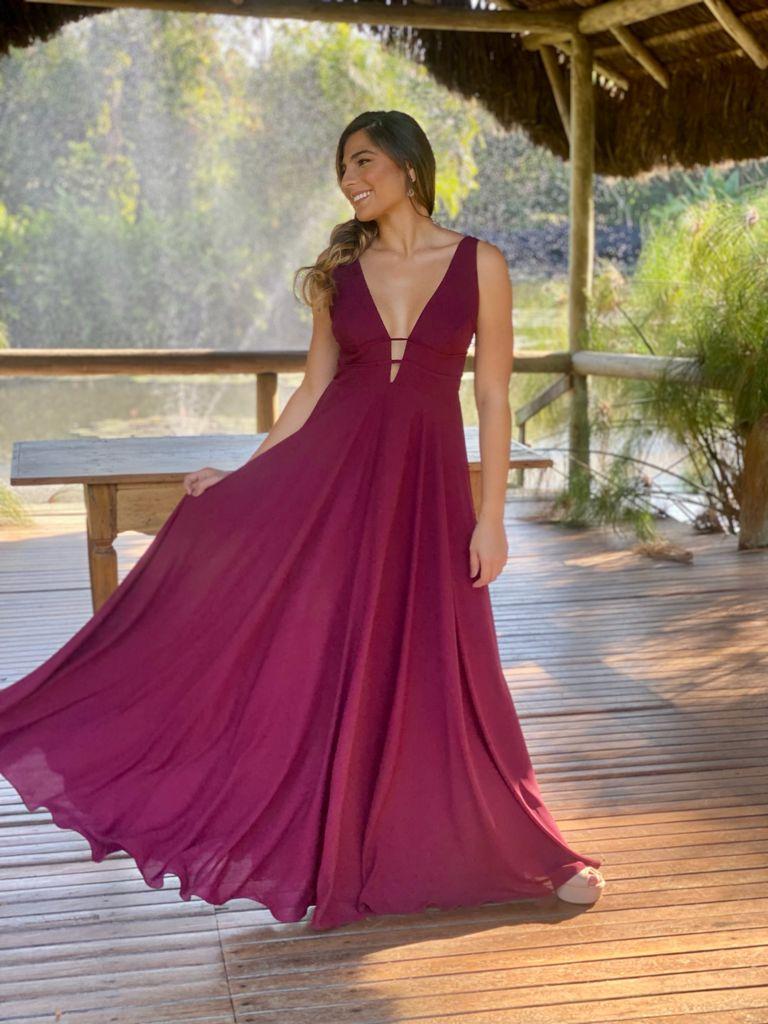 Vestido Athenas Marsala