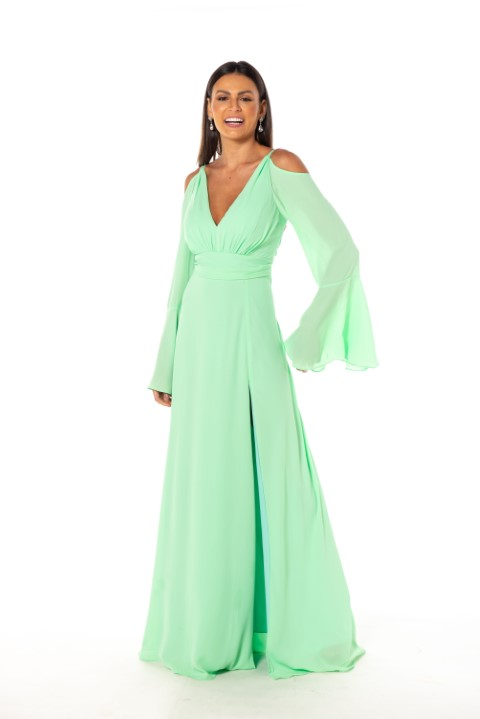 Vestido Atlanta Verde Menta