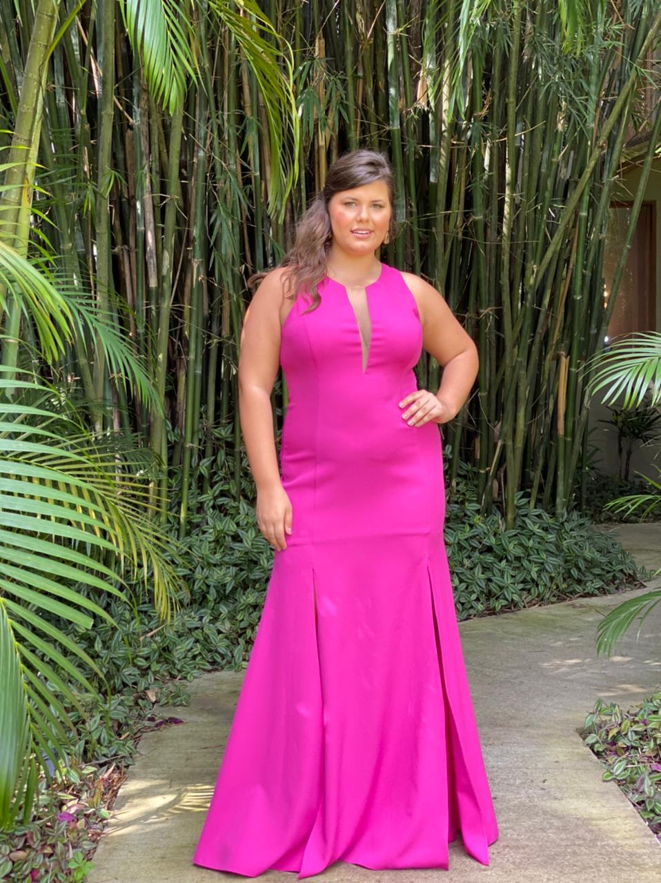 Vestido Bahamas Fúcsia Plus Size