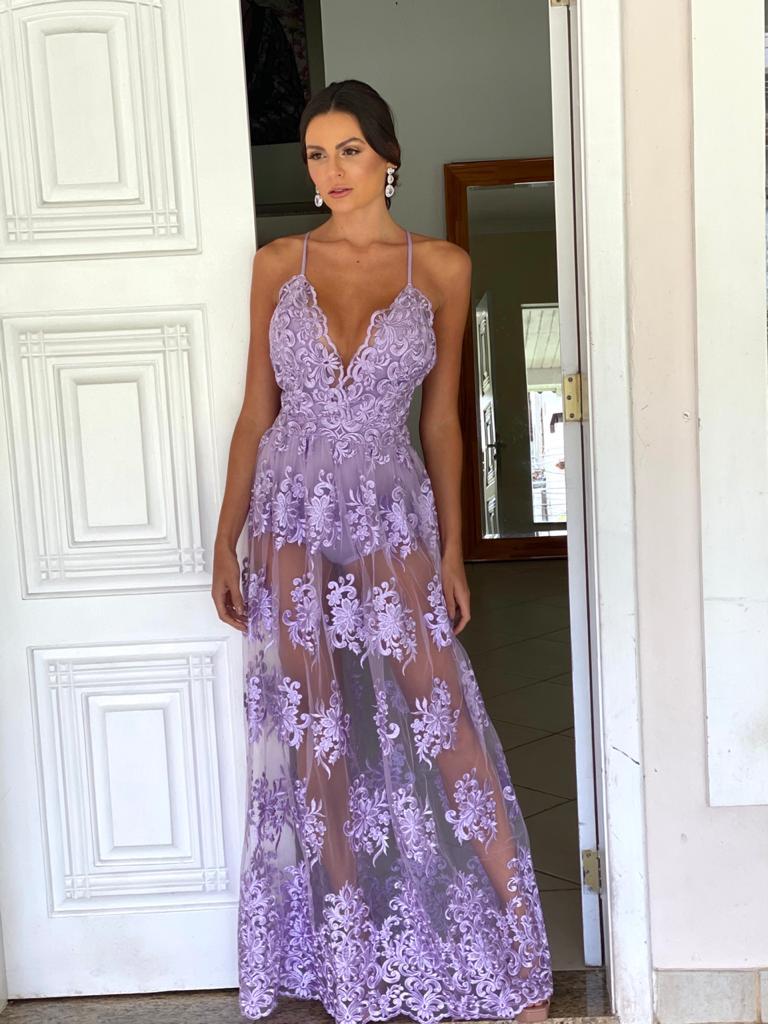 Vestido Bahia Lilás Lavanda