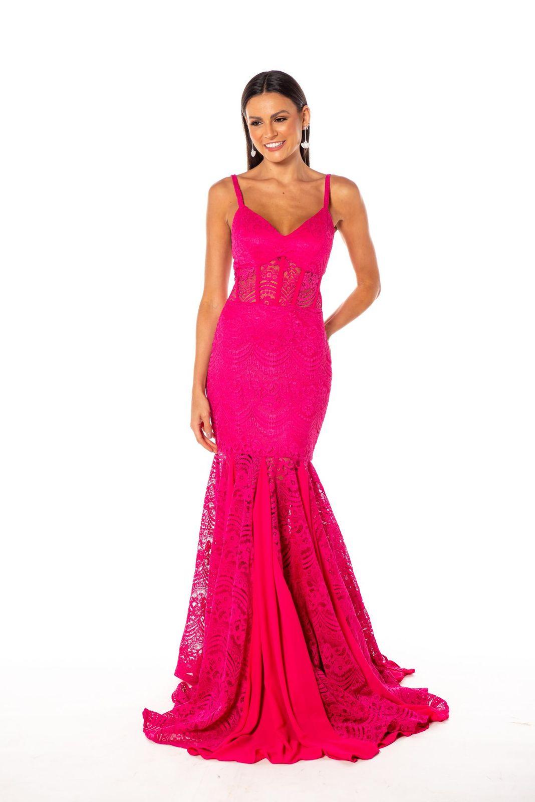 Vestido Balneário Renda Pink