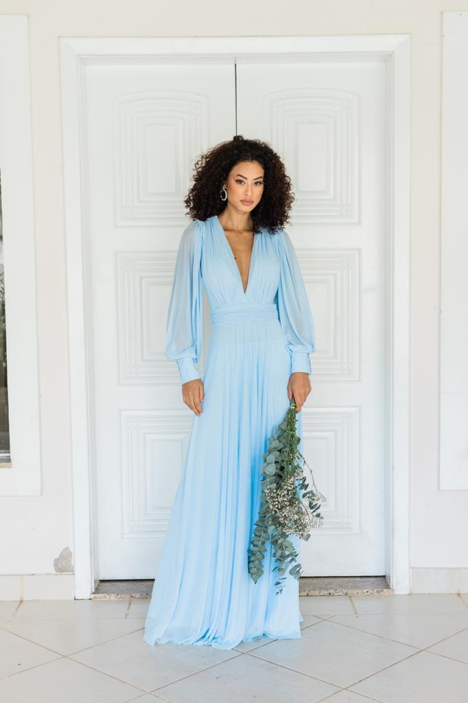 Vestido Cannes Azul Serenity