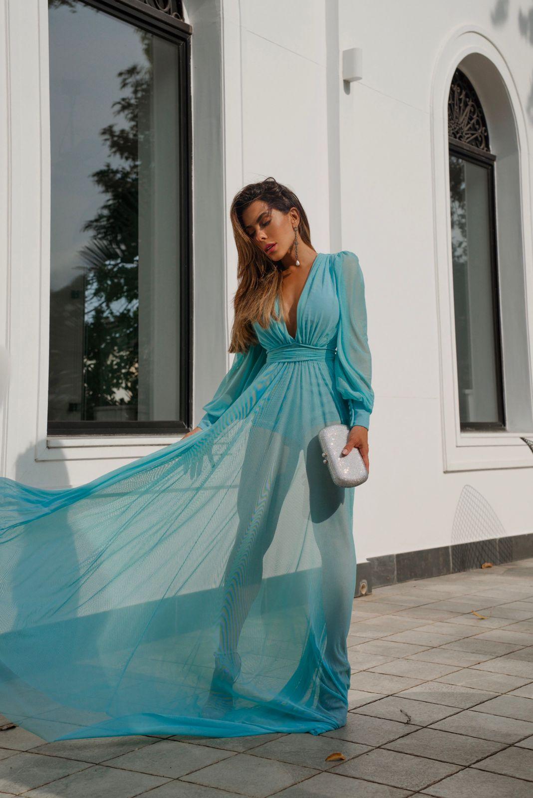 Vestido Cannes Azul Tiffany