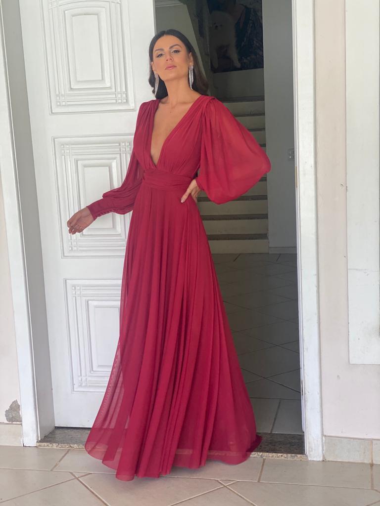Vestido Cannes Marsala