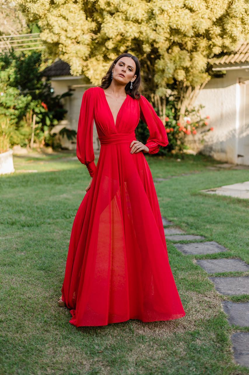 Vestido Cannes Vermelho