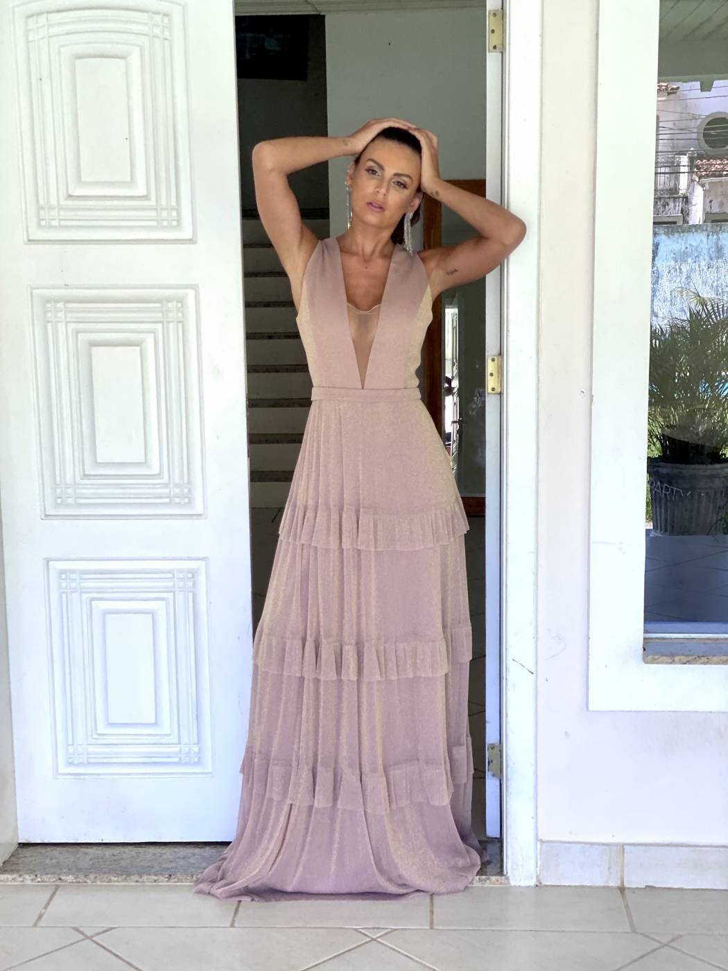 Vestido Columbia Rose Gold
