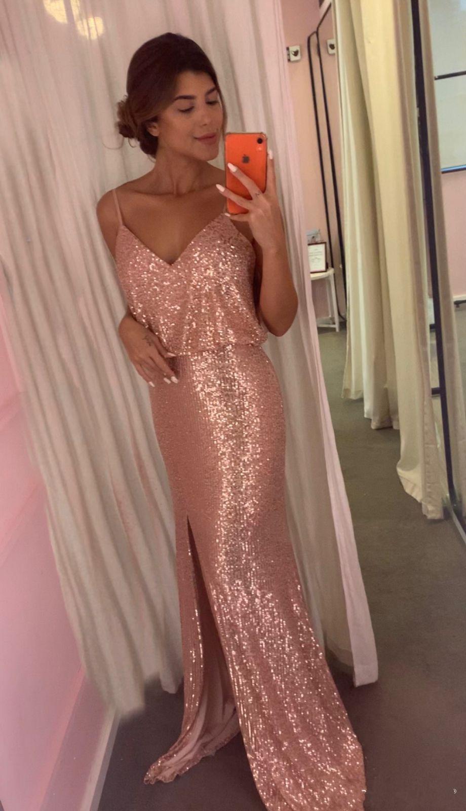 Vestido Courchevel Rosé Gold