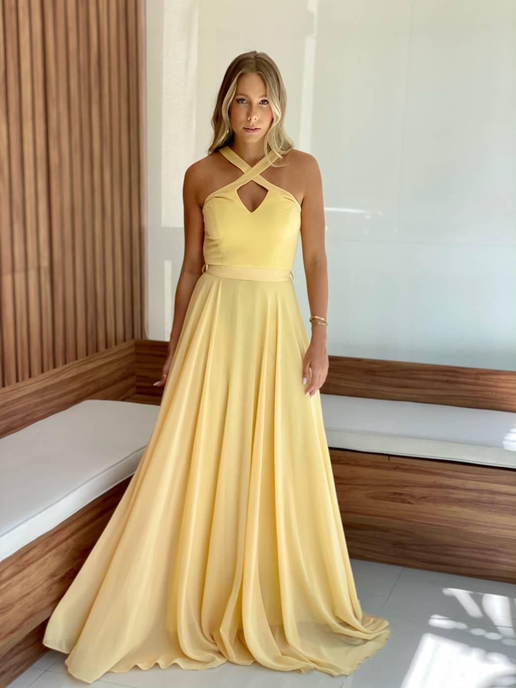 Vestido Cuba Amarelo