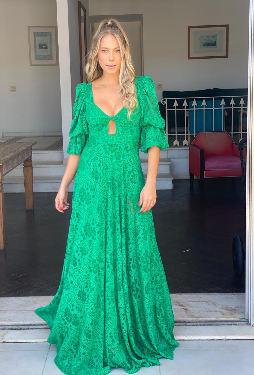 Vestido Dallas Verde Bandeira