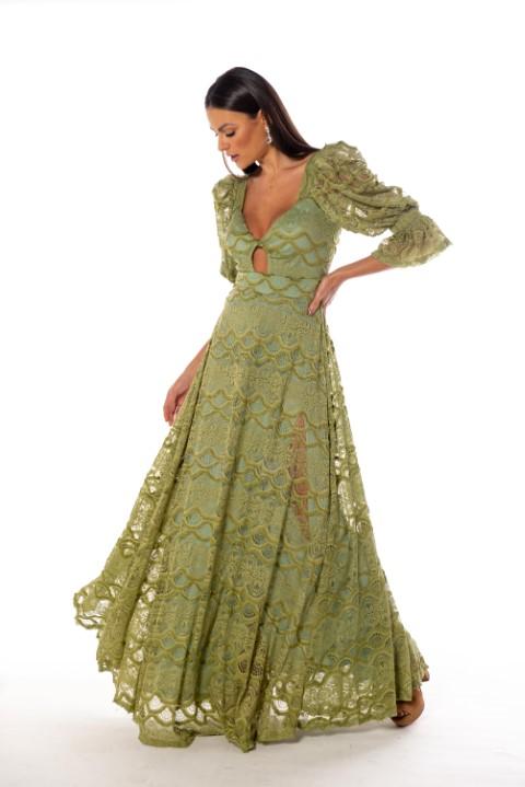 Vestido Dallas Verde Oliva