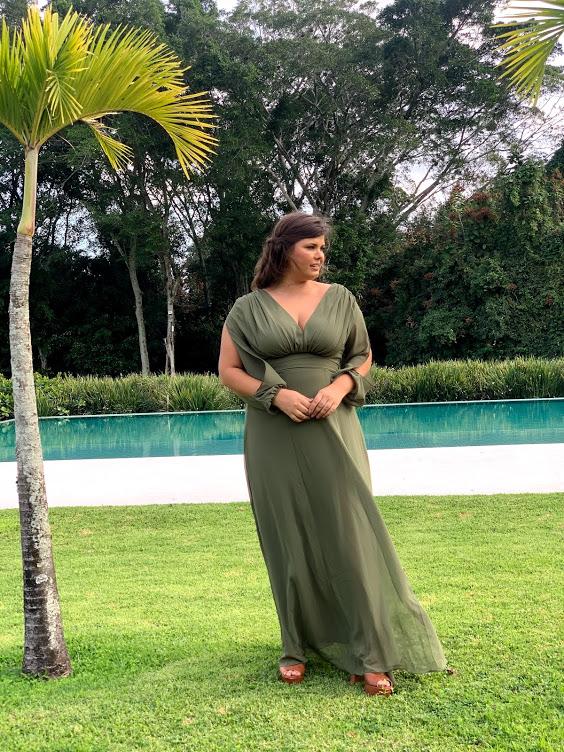 Vestido Espanha Verde Oliva