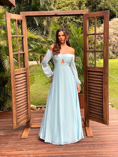 Vestido Filipinas Azul Serenity