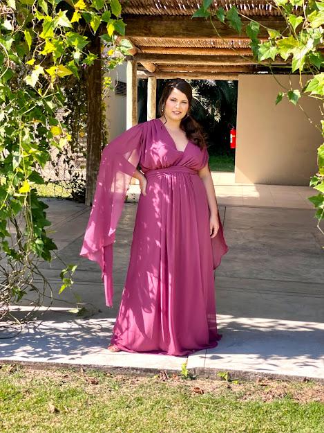 Vestido Goiânia Plusize Marsala