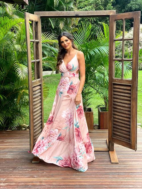 Vestido Gramado Rosé Estampado