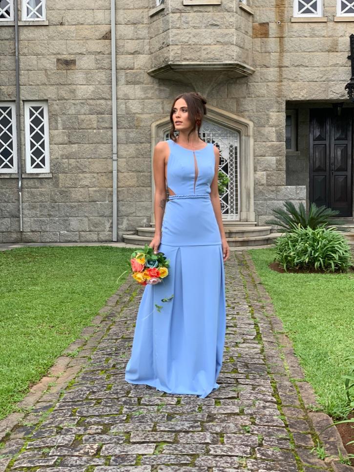 Vestido Hamburgo Azul Celeste