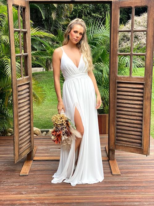 Vestido Indonésia Branco