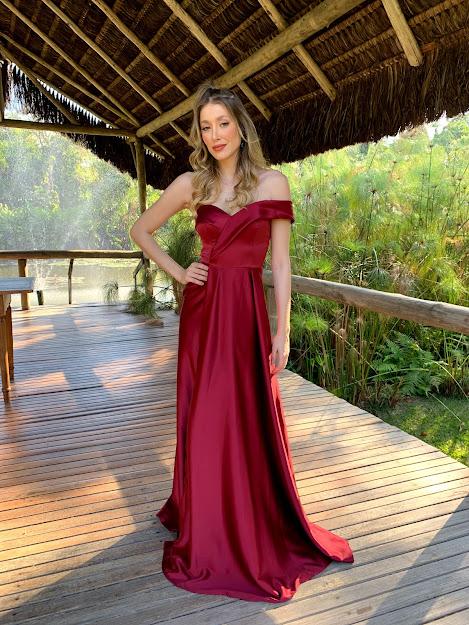 Vestido Itália Marsala